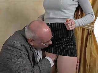 Grandpa Licks And Fucks Tight Body Brunette Teen Hottie