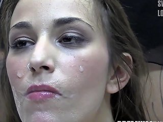 Premium Bukkake Alma Swallows 64 Huge Mouthful Cum