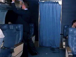 Stewardess Rough Fucked In Airplane