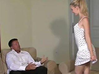 Young Blonde Gf Cheating With Older Man