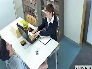 Japanese Sextoy Saleswoman Gives Under Table Footjob Drtuber