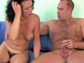 German Young Guy Seduce Hairy Step Mom To Get First Fuck Drtuber