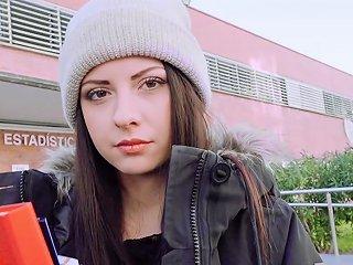 Hot Euro Teen Rebecca Volpetti Ass Fucked In Public Pov