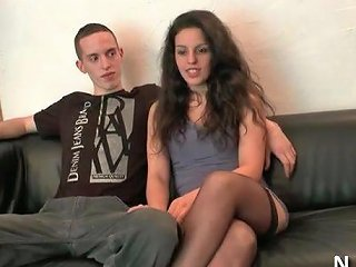 Young Amateur French Couple Doing Anal For Their Casting