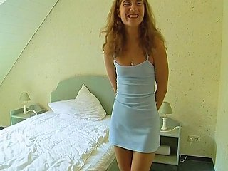 Cute Teen With Perky Tits In Minidress Strips 4 Cam